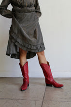 Load image into Gallery viewer, 1970s Red Leather Cowgirl Boots by Tony Lama