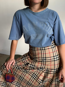 1990s Champion Gray Blue Boxy Tee