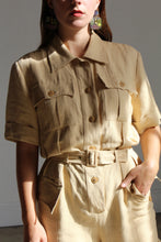 Load image into Gallery viewer, 1980s Yves Saint Laurent Linen Jumpsuit