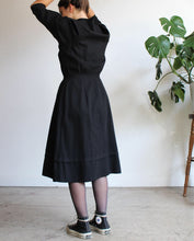 Load image into Gallery viewer, WWI 1910s Black Utility Dress