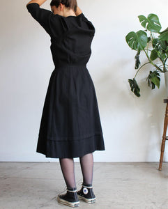 WWI 1910s Black Utility Dress