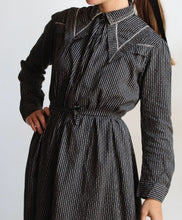 Load image into Gallery viewer, Late 1800s Pinstripe Prairie Day Dress
