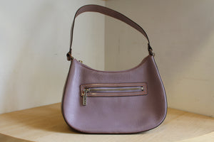 1990s Leather Periwinkle Handbag