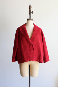 1960s Red Suede Swing Jacket