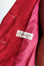 Load image into Gallery viewer, 1960s Red Suede Swing Jacket