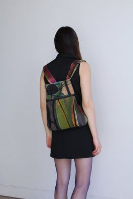 1990s Art to Wear Canvas Backpack