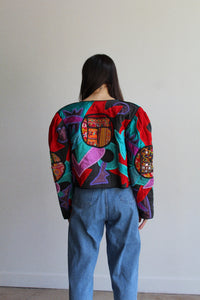 1980s Cropped Patchwork Jacket by Judith Roberto