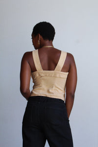 Vintage 1940s Inspired Sand Crop Top