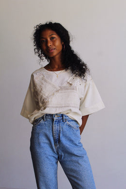 1980s Cotton Patchwork Top