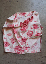 Load image into Gallery viewer, 1950s Rose Print Top