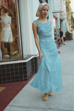 Load image into Gallery viewer, 1930s Baby Blue Polka Dot Organza Dress + Bolero Set