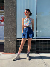 Load image into Gallery viewer, 1950s Denim Front Pleat Shorts