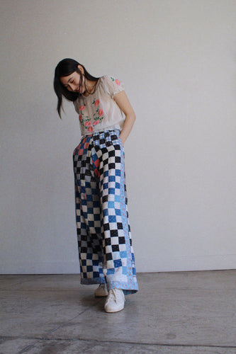 Checkered Quilt Trousers