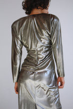 Load image into Gallery viewer, 1980s Liquid Gunmetal Dress