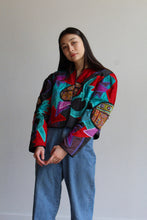 Load image into Gallery viewer, 1980s Cropped Patchwork Jacket by Judith Roberto
