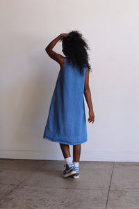 1980s Denim Tent Dress