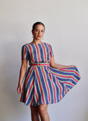 Laura Ashley Candy Striped Dress