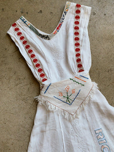Happy Day Antique Linen Patchwork Dress
