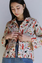 Load image into Gallery viewer, 1990s Kokeshi Doll Print Top
