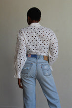 Load image into Gallery viewer, 1980s Eyelet Cropped Blouse