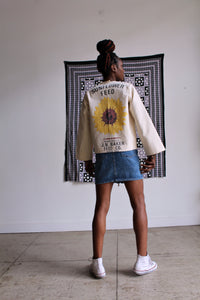 Spring Sunflower Feed Sack Jacket