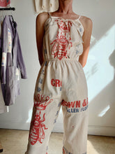 Load image into Gallery viewer, Queen Bee Flour Sack Jumpsuit - Size M