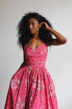 Load image into Gallery viewer, 1970s Pink Batik Sundress