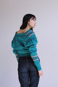 1980s Turquoise Woolrich Cardigan