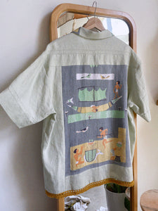 Egyptian Linen Shirt ~ XL