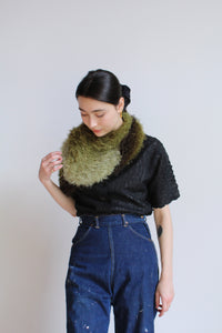 1990s Fuzzy Ombre Scarf