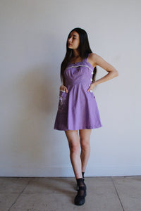 1950s Lavender Playsuit Dress