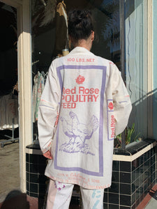 Red Rose Feed Sack Jacket