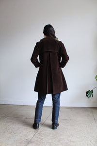 1960s Chocolate Brown Rain Coat