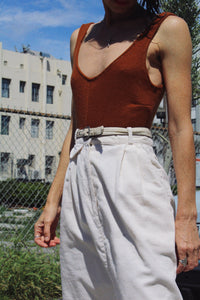 1970s White Corduroy Skirt