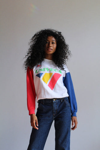1980s Univega Color Block Bike Sweatshirt