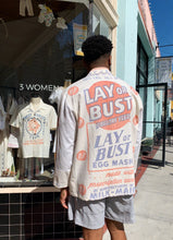 Load image into Gallery viewer, Lay or Bust Pastel Feed Sack Work Shirt