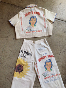 Vanity Fair Crop Top & Pants - Medium