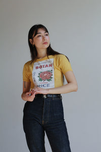 Botan Rice 1970s Crop Top