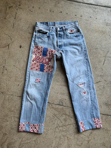 Rose Feed Sack Patchwork Levi's 501