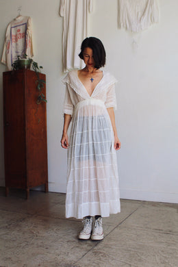 Antique Edwardian Sheer Lawn Dress