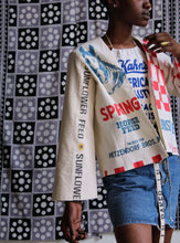 Load image into Gallery viewer, Spring Sunflower Feed Sack Jacket