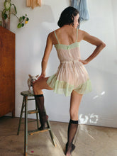 Load image into Gallery viewer, 1920s Pastel Tissue Silk Step-in Lingerie