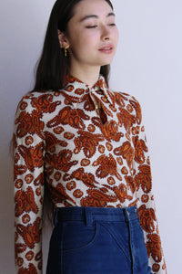1970s Knit Paisley Top