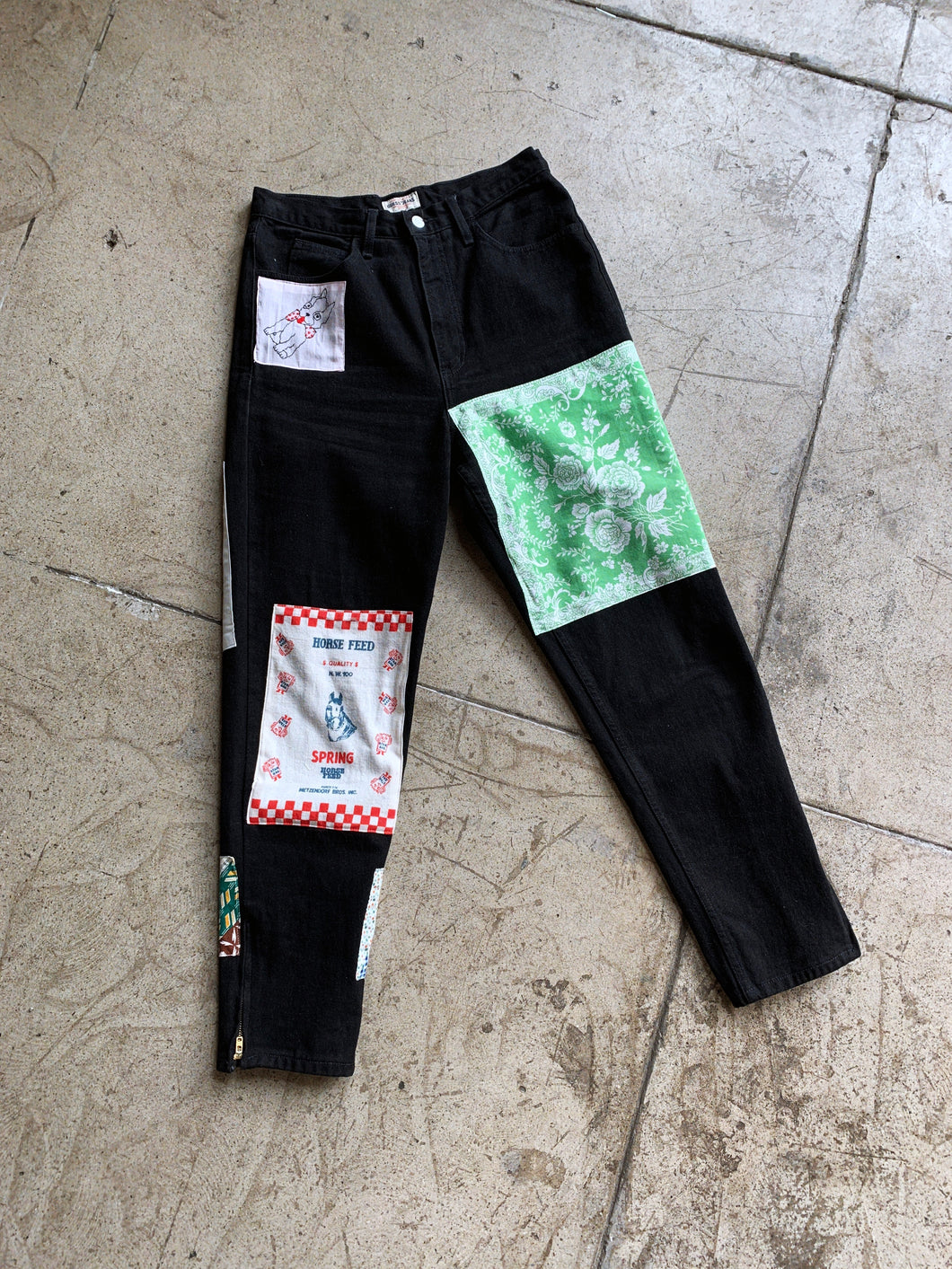 Patchwork 90s Black Guess Jeans