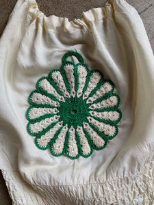 1970s Crochet Flower Halter Tops