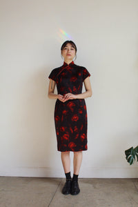 1960s Abstract Floral Cheongsam Qipao