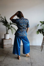 Load image into Gallery viewer, 1940s Blue Chinese Silk Brocade Set