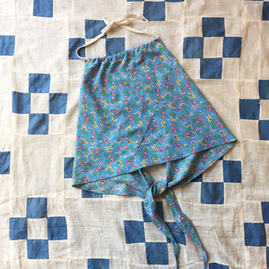 Handmade 1930s Feedsack Shoestring Halter Top