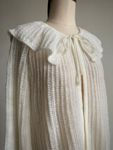 Load image into Gallery viewer, 1970s White Pierrot Collar Cardigan