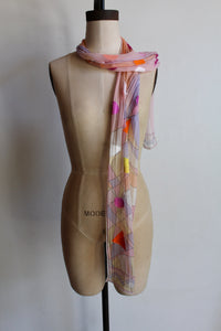 Emilio Pucci Silk Pastel Scarf with Geometric Shapes